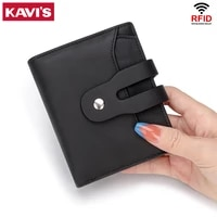 kavis 2021 leather women wallet hasp small and slim coin pocket purse women wallets cards holders luxury brand wallets designer