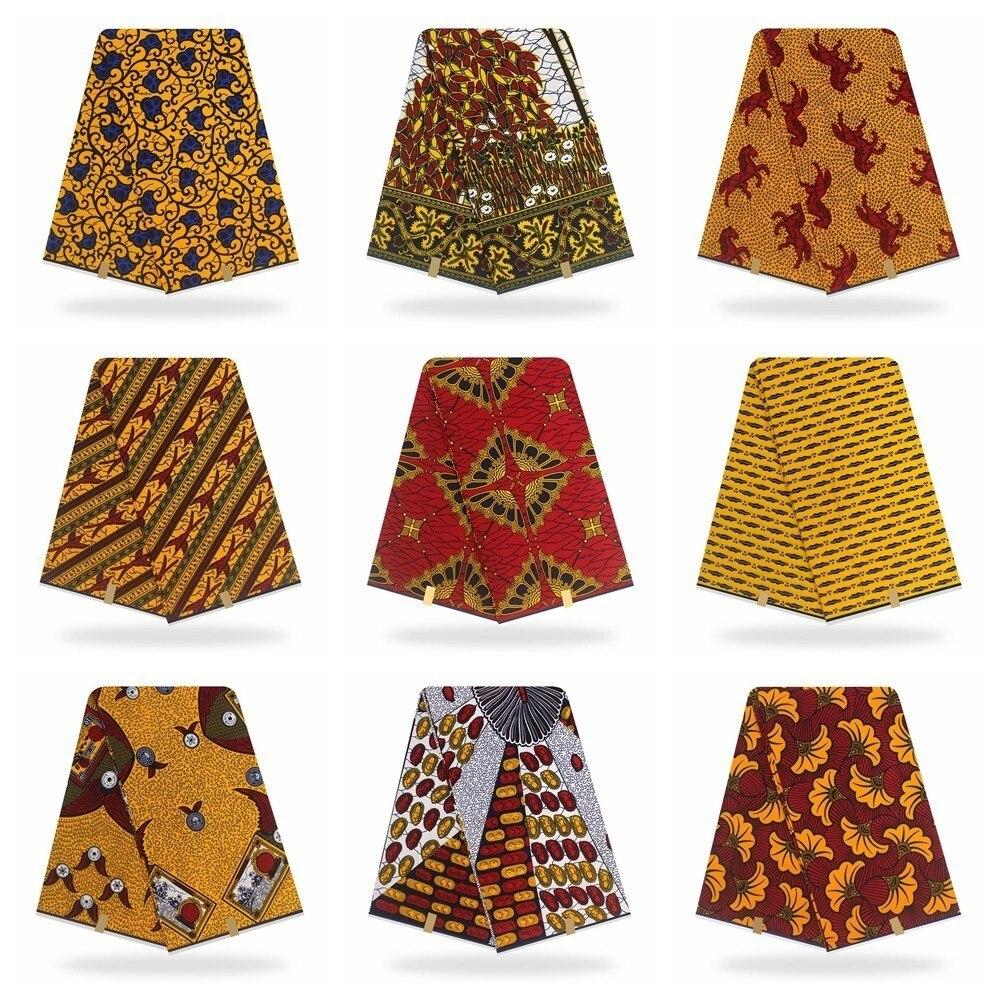 Cera verdadeira garantida verdadeira cera pagne real 6 quintal/lote macio nova alta qualidade tecido africano impressão aso ebi verdadeira cera
