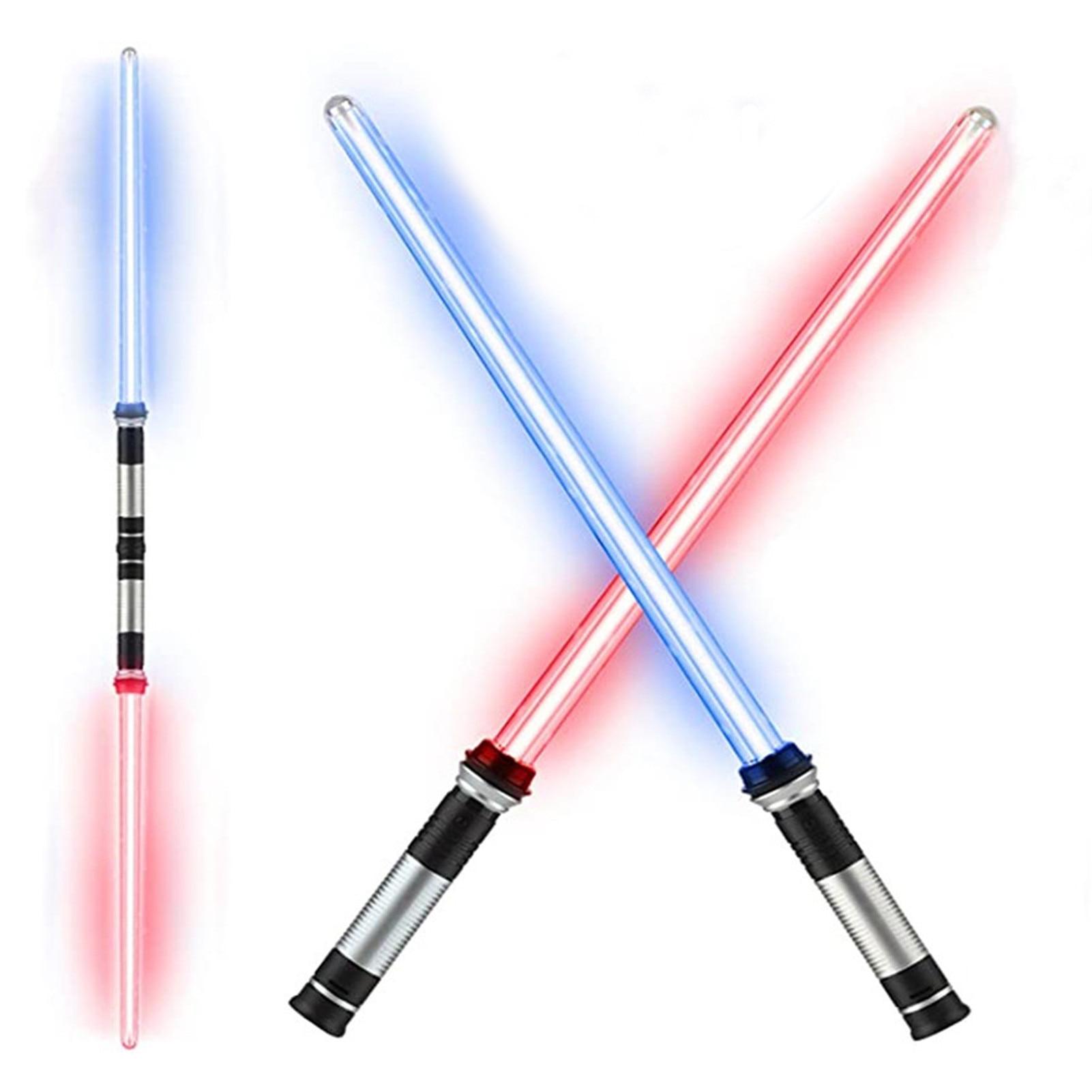 2 шт., лазерный световой меч, игрушки для мальчиков и девочек, меч Дарта вадерса, косплей, игрушечный лук, двойной светильник вой меч, игрушки ...
