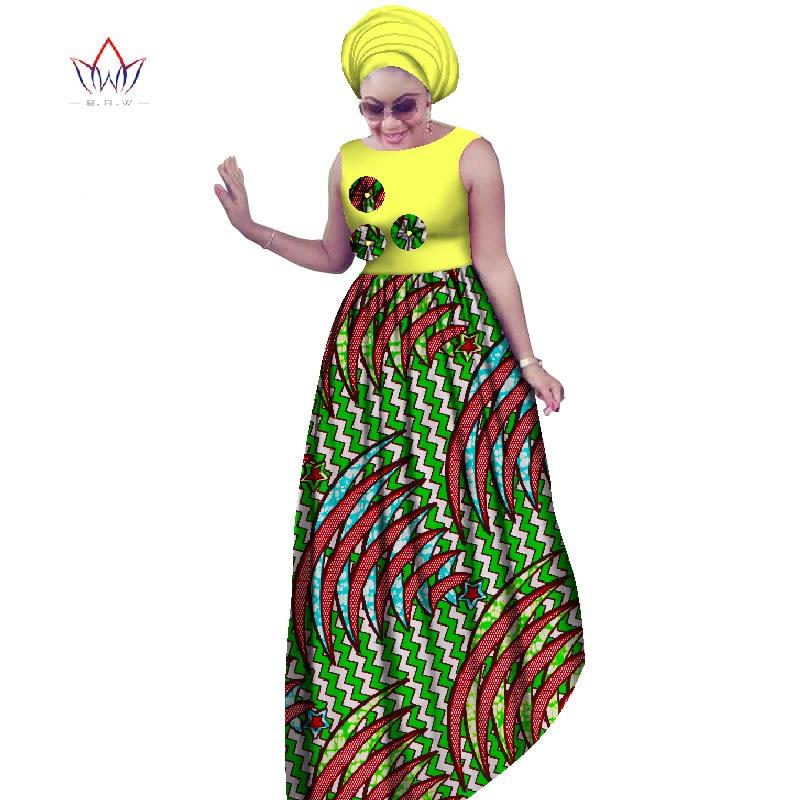 Женское платье без рукавов BRW, длинное платье большого размера в африканском стиле, 6XL, Dashiki, WY2019