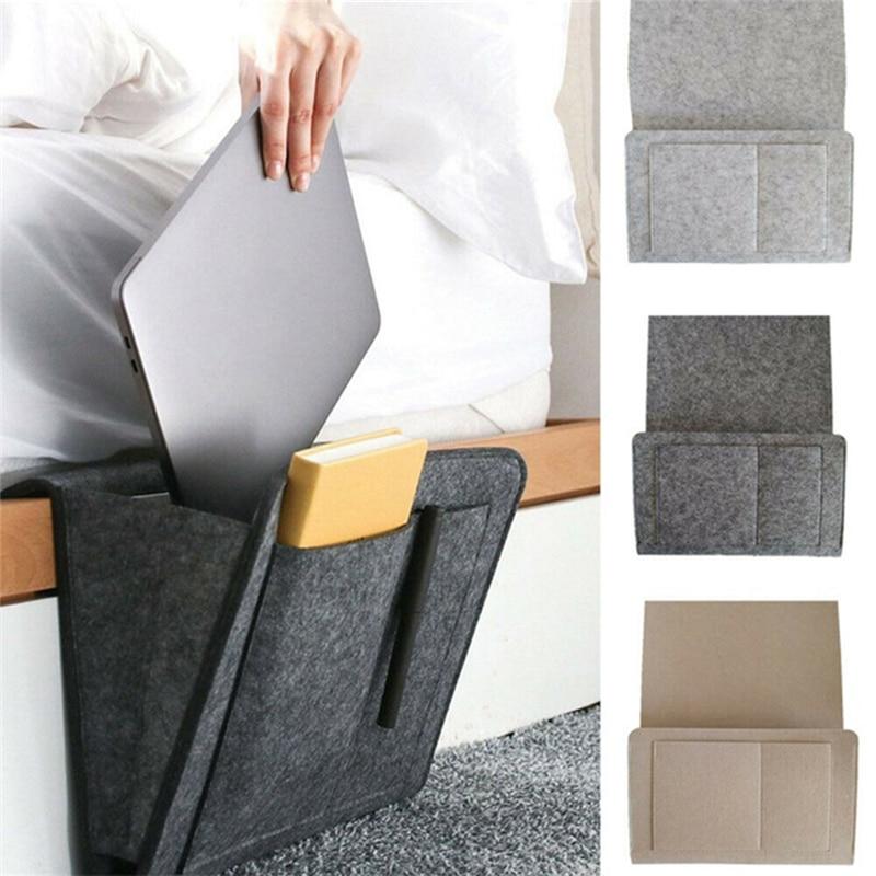 Organizador de almacenamiento con Control remoto para mesita de noche, soporte para cama con bolsillos, bolsillo para cama, sofá, organizador con bolsillos, soporte para libros