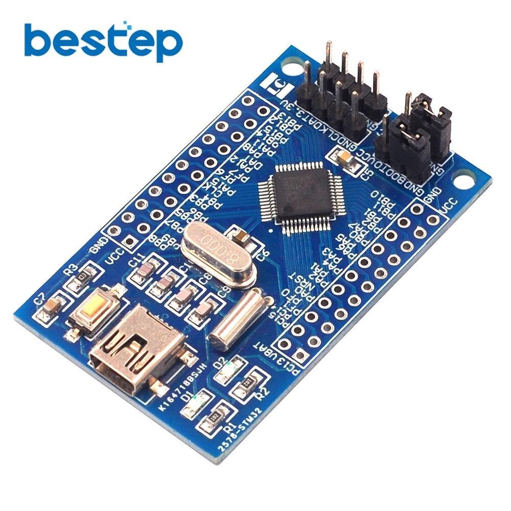 1 pieza Cortex-M0 STM32F051C8T6 STM32 ARM Core Board Placa de desarrollo de evaluación de detección Placa de sistema mínimo