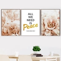 peony flower wheat farm sunset girl wall art canvas painting nordic posters and prints wall pictures for living room home decor