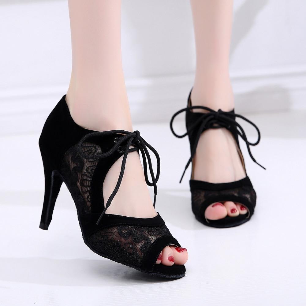 HOT HOT New Stye Salsa jazz Outdoor Rubber sole training latin dance shoes for dancing women sexy stylish high heel
