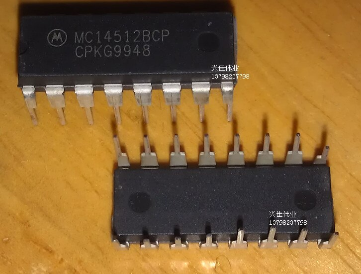 10 pces o novo circuito digital ic mc14512bcp mc14512 dip16 pacote