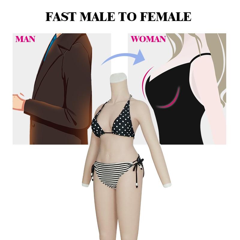 أشكال ثدي من السيليكون بدلات شيمال لكامل الجسم بأذرع C كؤوس ثدي مزيفة بدلة كروسدرسر متحولين جنسيا ملابس تشكيل من اللاتكس