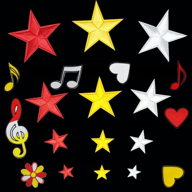 Patch étoile brodé jaune rouge blanc pour vêtements, Badge de carnaval des pays-bas