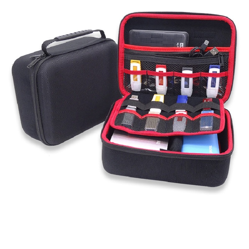 GHKJOK 3.5 inch Large HDD USB Flash Drive external hard disk case Cable Organizer Bag Carry Case usb flash disk GH1603