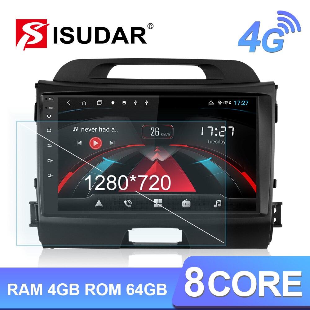 Isudar H53 4G Android 1 Din Auto Radio para KIA/Sportage coche reproductor Multimedia Octa Core RAM 4GB ROM 64GB GPS USB DVR Cámara DSP