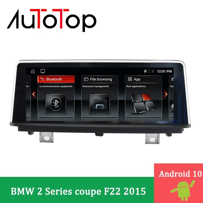 "AUTOTOP 8.8 ""Android 10.0 Car Multimedia Player GPS Áudio Radio Navigation Carro ForBMW 2 cupê Série 2015 F22 NBT radio DVD GPS"