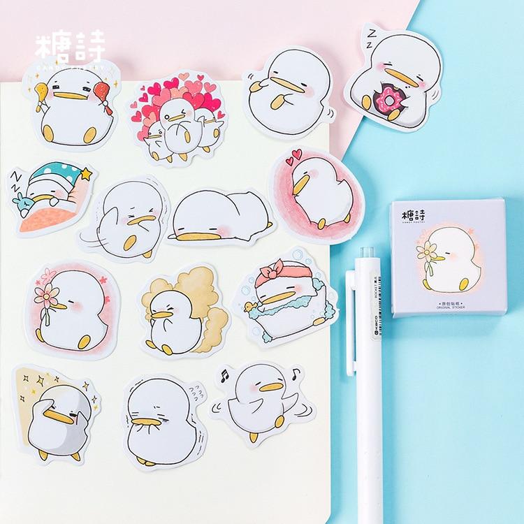mohamm-cute-little-duck-mini-sticker-decorazione-adesivo-scrapbooking-fai-da-te-cartoleria-adesivi-per-etichette-diario-kawaii-mestiere-di-carta