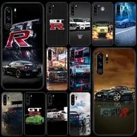 gtr sport car phone case for huawei p 10 20 30 40 lite pro smart plus z 2019 nova 5t 7i black etui 3d back silicone coque luxury