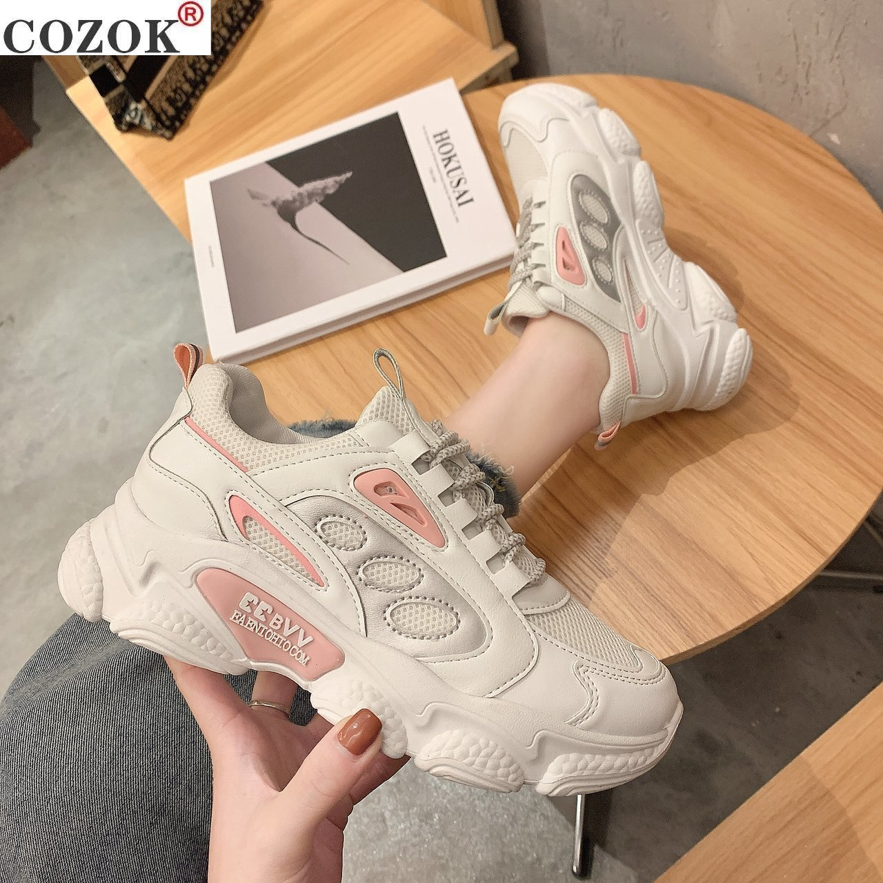 2021 Spring New Fashion Comfortable and Breathable Women's Shoes Cross Strap Platform Vulcanized Women Sneakers Light Casual