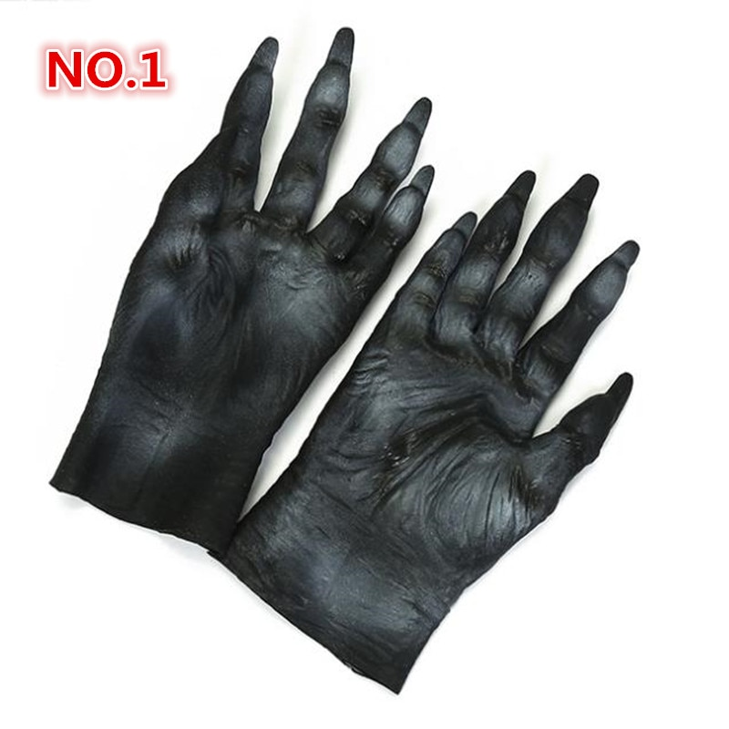 Halloween Thriller party simulation Werewolf Wolf Paws Claws Wolf Gloves Cosplay Gloves Creepy Costume Party