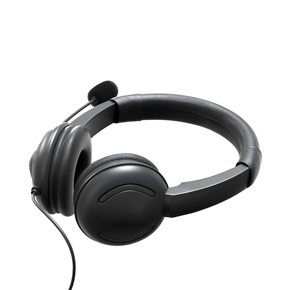USB Headset with Microphone and In-Line Control On-Ear Headphone for Gaming, Skype, Office, Conference