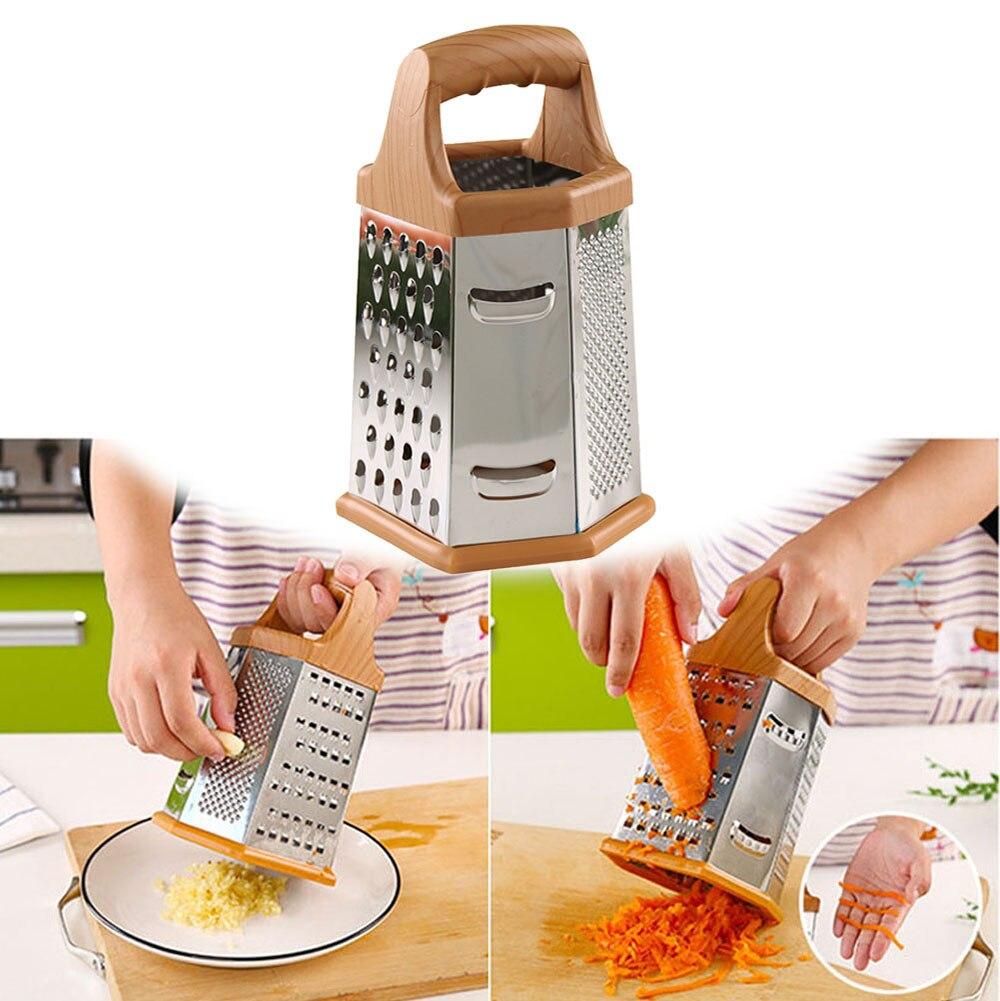 Pelador de seis caras multifuncional para cocina, picador vegetariano, pelador de manzana y patata de acero inoxidable de alta calidad, herramientas de frutas vegetales