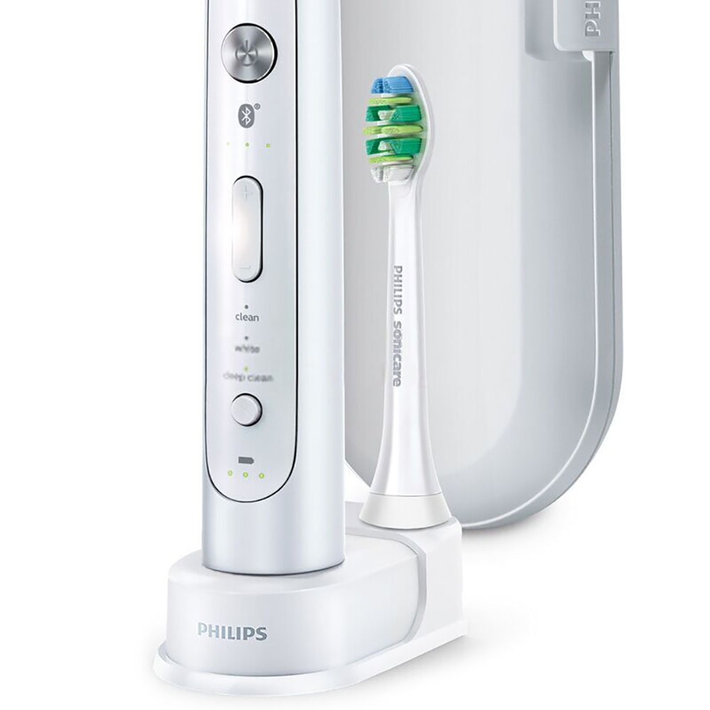 Sonicare flexcare electric toothbrush, platinum, Bluetooth connection, hx9192, with application, intelligent brushing enlarge
