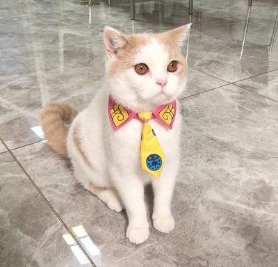 JoJo es extraño aventura Kira Yoshikage matar a la Reina gato cabo corbata para mascotas JoJo Cat pajarita para perro Cosplay foto Decoración