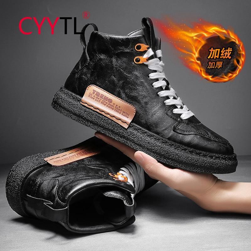 CYYTL-zapatillas de deporte de alta calidad para Hombre, zapatos cálidos de terciopelo...