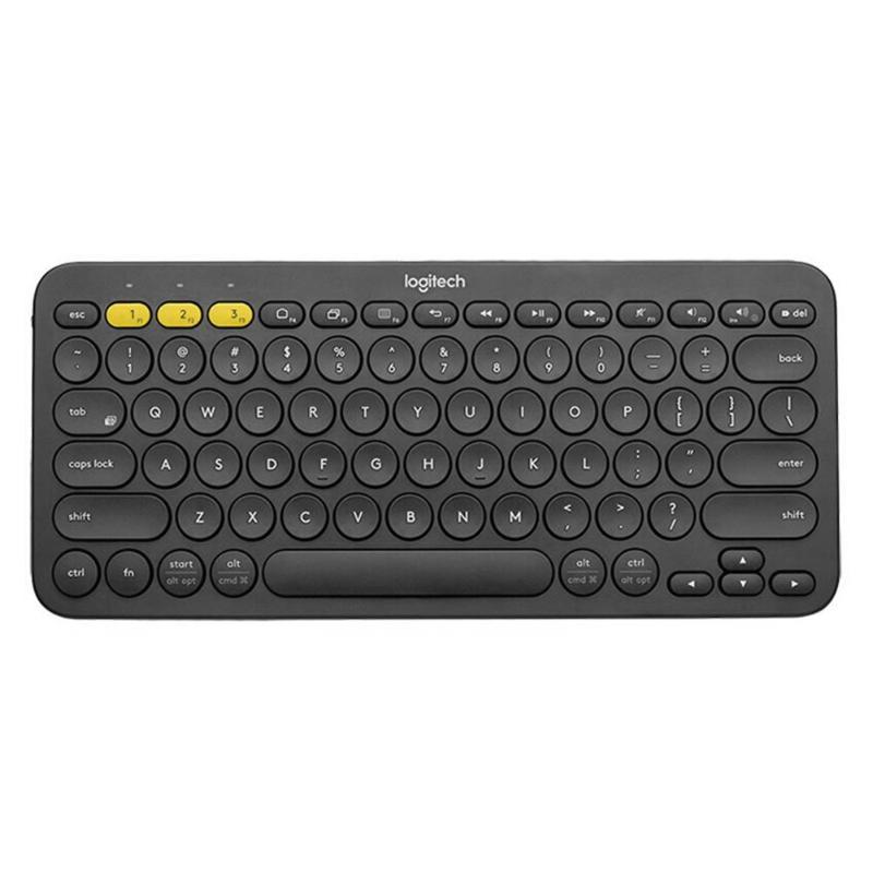 Teclado inalámbrico con Bluetooth Logitech K380, cubierta suave de silicona para teclado para Gamer, oficina, negocios, Chrome OS para Mac y Windows