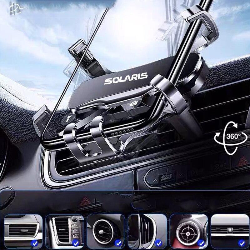 Metal Phone Holder Car Navigation Mobile Phone Holder Bracket Support For SOLARIS 2019 2017 2012 Car