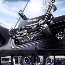 Metal Phone Holder Car Navigation Mobile Phone Holder Bracket Support For SOLARIS 2019 2017 2012 Car
