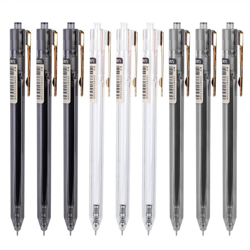 12 шт Deli A525 пресс гелевая ручка 0,38 мм черная простая Студенческая ручка для заметок и книг бизнес углеродная ручка оптовая продажа