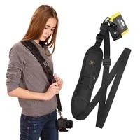 portable shoulder camera strap quick carry speed sling soft shoulder sling belt neck strap for canon nikon camera dslr strap on