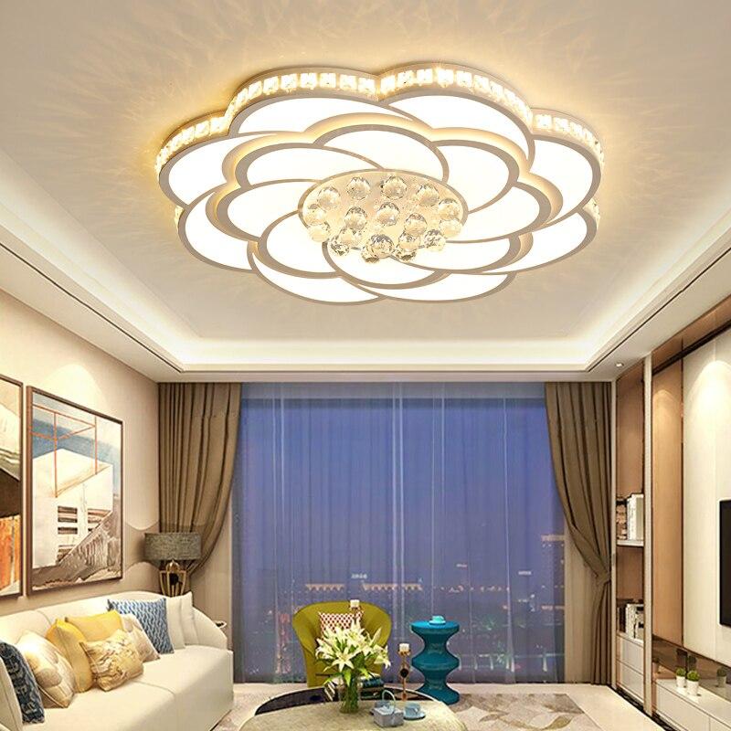 Lámparas de techo LED de cristal para sala de estar, lustre, luminaria...