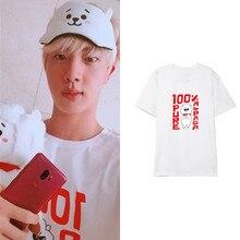 Kim Seok Jin RJ alpaga motif T-shirts t-shirt femmes hommes à manches courtes t-shirt hauts mode dété t-shirt vêtements