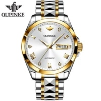 oupinke swiss sumptuous automatic watch business sapphire crystal mechanical tungsten steel luminous wristwatch men
