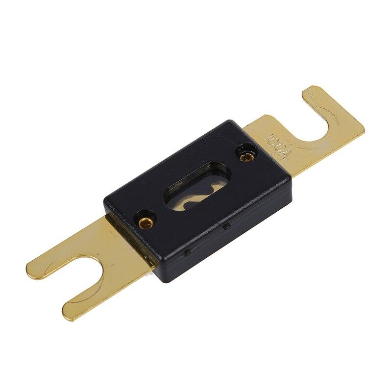 Auto o sistema de protección ANL fusible 100Amp tono dorado negro