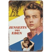 east of eden 1955 cal trask movie poster retro tin sign does not rust iron painted aluminum metal art poster 8%c3%9712