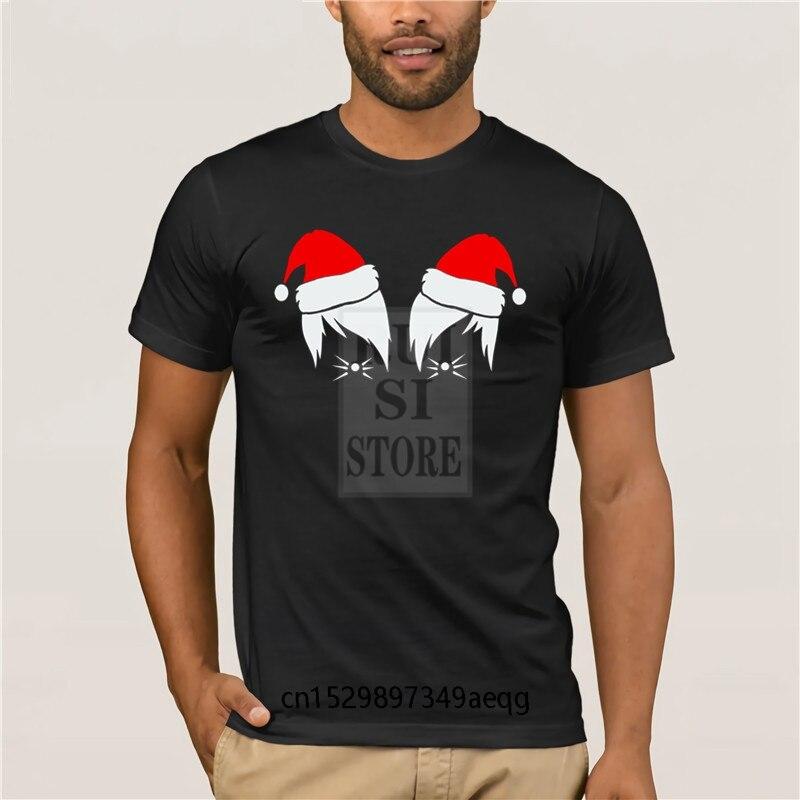 Casual Dan y Phil bigotes Navidad Santa sombrero Vlogger Blog moda corta con dibujo de o-Cuello T camisas