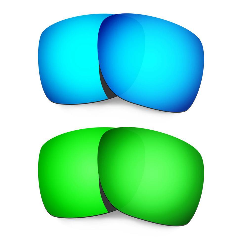 HKUCO ل الانحراف النظارات الشمسية استبدال العدسات المستقطبة 2 أزواج-الأزرق والأخضر
