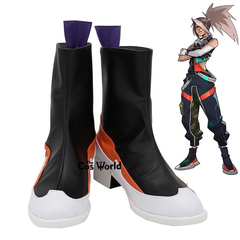 LOL verdadera piel dañada Akali juegos personalizar Cosplay zapatos botas