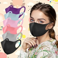 6pc Adult's Mascarilla Reusable Mascarilas Washable Earloop Face Mask Mouth Mask Fashion Solid Breathable Accessories Wholesale