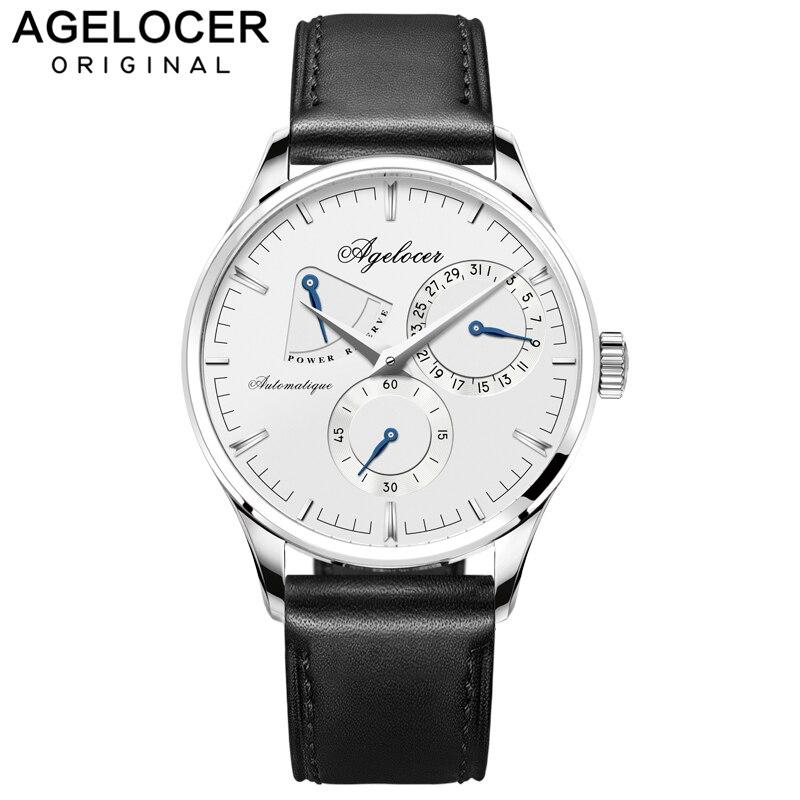 Agelocer-ساعة رياضية للرجال ، تصميم سويسري ، ميكانيكية ، احتياطي الطاقة 42 ساعة ، ساعة لياقة للرجال ، موضة