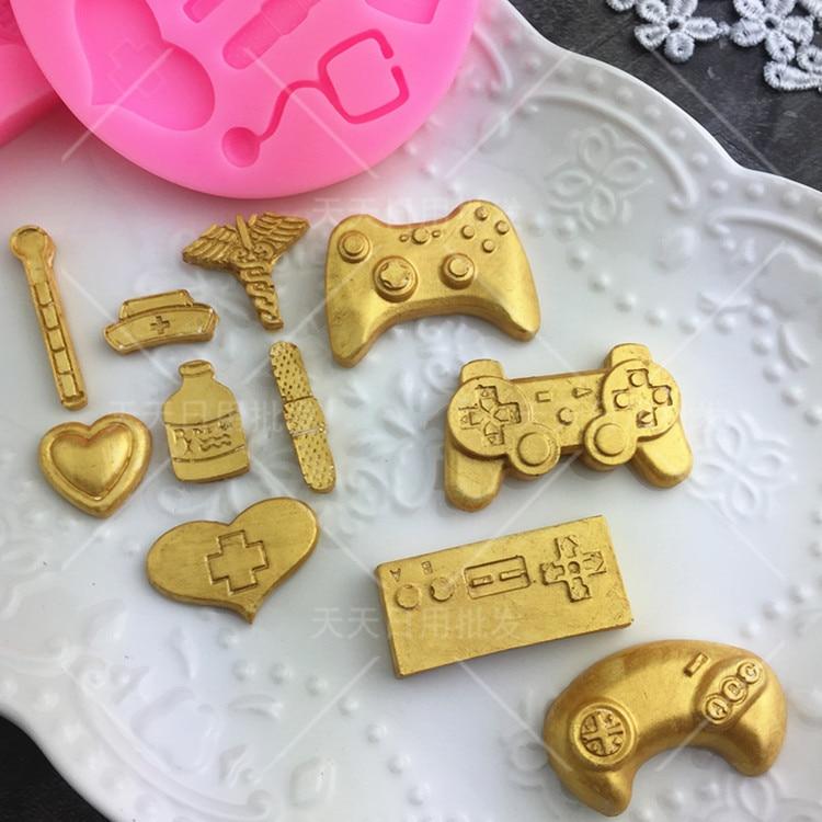 Suministros Médicos molde de silicona fondant torta decoración herramientas pastel gelatina caramelo chocolate decoración herramientas para hornear