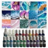 25 colors epoxy pigment liquid colorant dye ink diffusion uv resin diy crafts 83xf