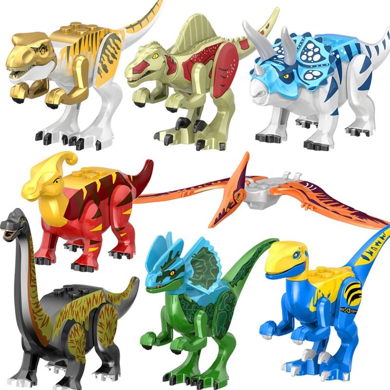 8 Pcs/set New Jurassic Dinosaur Indominus Rex Movie Figures Set Jurassics Animals Styx Dragon Lockings Series Dinosaurs Toys