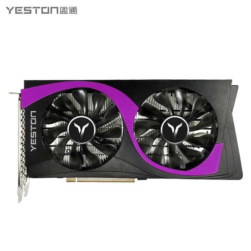 Tarjeta gráfica Super-6G GDDR6 de Yeston GeForce RTX2060, Nvidia pci express x16 3,0, vídeo de PC para ordenador de sobremesa, tarjeta gráfica para videojuegos
