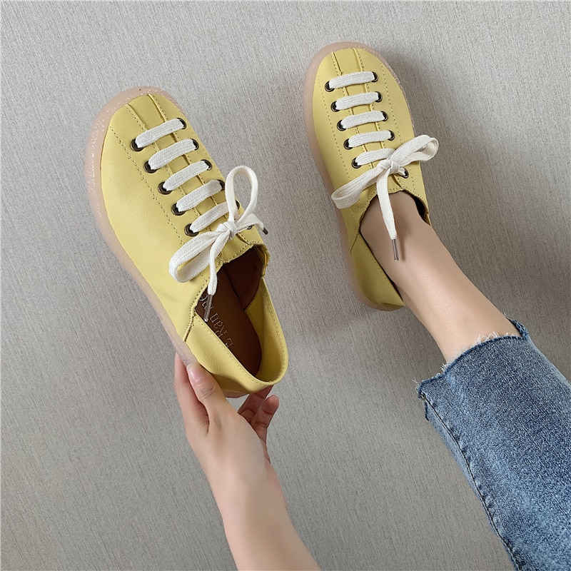 new arrival fashion version cross tied ladies casual shoes womens flats comfortable leather shoes spring autumn sneaker 2018 new arrival puma men s tsugi jun cubism sneaker badminton shoes size36 44