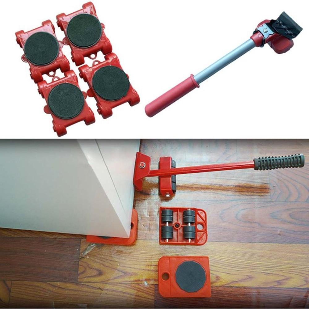 Подъемник для мебели, транспортный подъемник, комплект подъемников для тяжелых вещей, подвижный ролик, Транспортный комплект, Прямая поста...