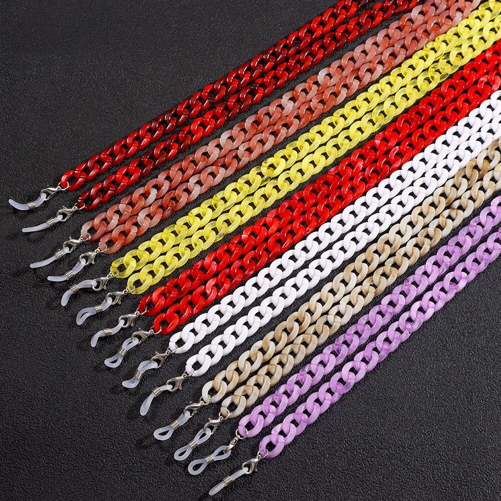Ожерелье-цепочка для очков женское, акриловый нескользящий шнурок карамельных цветов для солнцезащитных очков, аксессуар для чтения