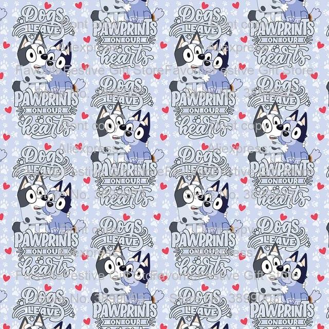 165*100cm Bluey familia papá mamá perro Animal para los niños cumpleaños giftsTelas tela africana tela para Patchwork de costura para manualidades DIY Materia