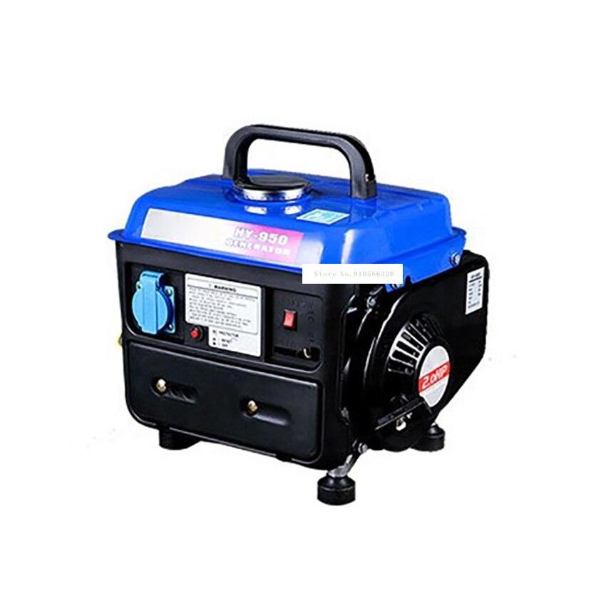 HY-950 عالية الجودة اليد سحب منخفضة الضوضاء البسيطة محرك البنزين مولد الغاز الطبيعي المسال الغاز خزان الوقود 4.2L 650W 220V 50HZ