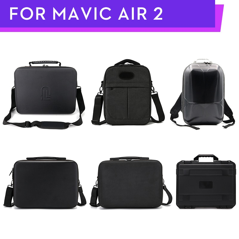 Mavic Air 2 Estuche de transporte impermeable Aiti-carcasa antichoque caja bolso de mano almacenamiento hombro bolsa protectora