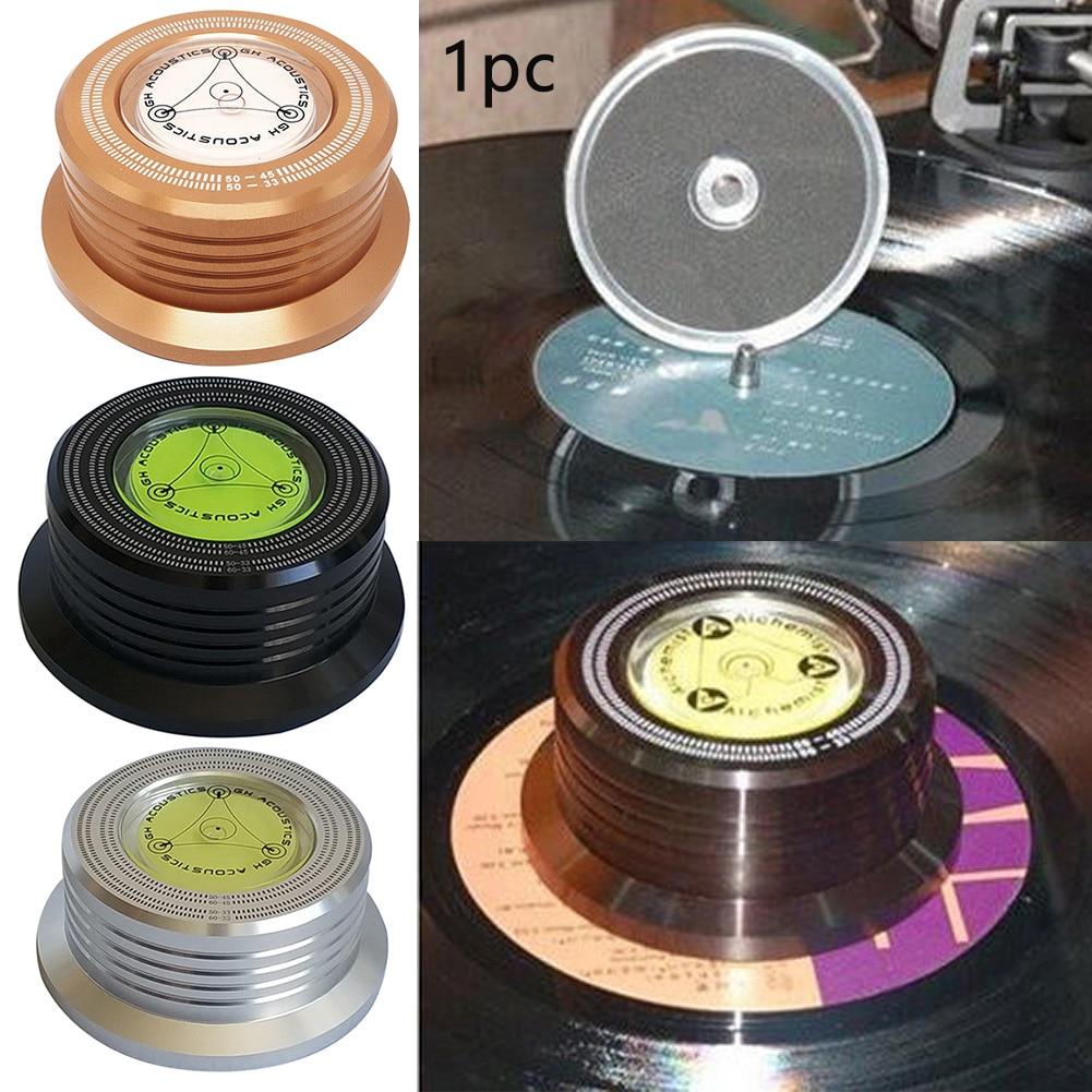 Estabilizador de disco 3 en 1, fijación de disco LP vinilo tocadiscos, reducción de vibración, estabilizador de Disco Universal, Música #734