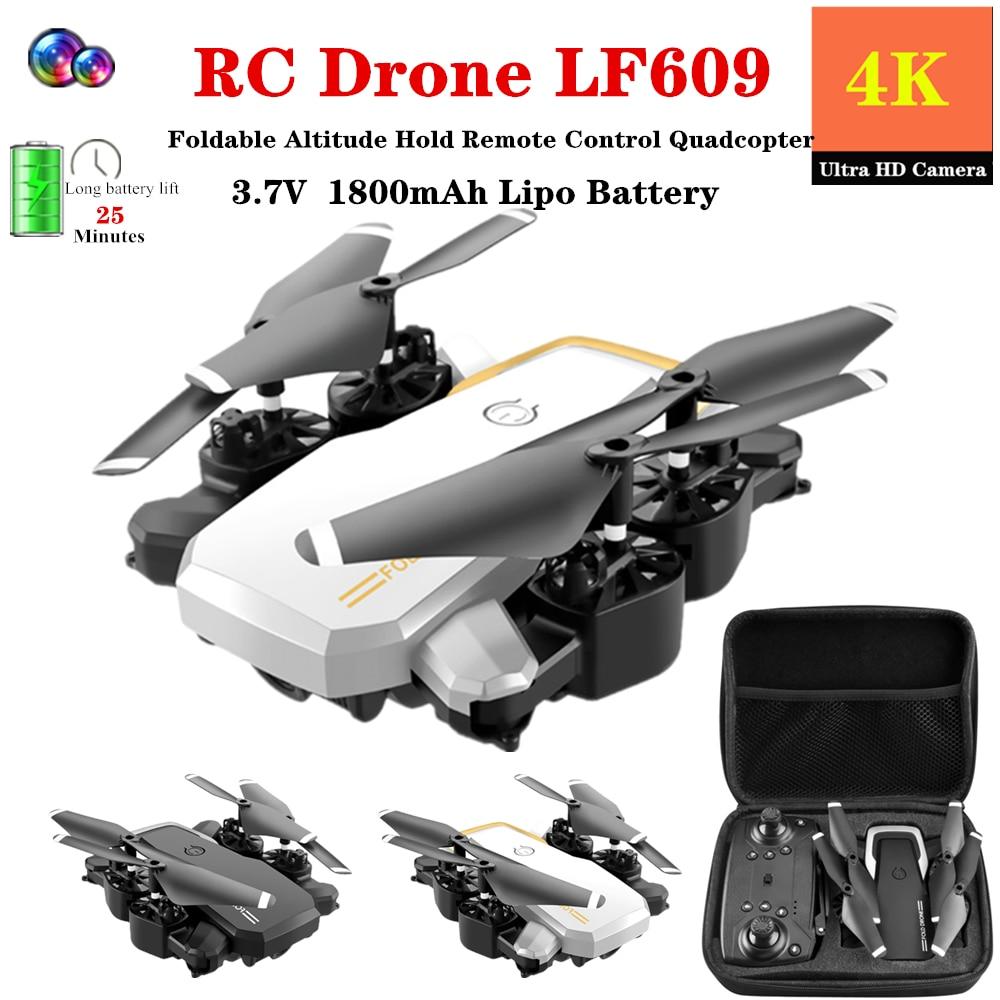 RC Drone 4K HD Cámara plegable Modo de retención de altitud Quadcopter 18-25 minutos tiempo de vuelo RC helicóptero juguete VS M69 E58 GD89 Dron regalo